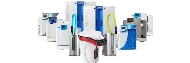 Gama de sistemas de purificación de agua CENTRA
