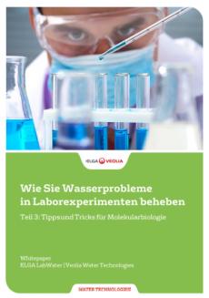 Whitepaper: Laborwasser-Probleme beheben in der Molekularbiologie
