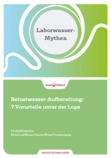Laborwasser-Mythen Flaschenwasser Reinstwasseranlage