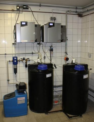 Reinwassersysteme PURELAB Pulse in einer Spülküche der Universität Hamburg