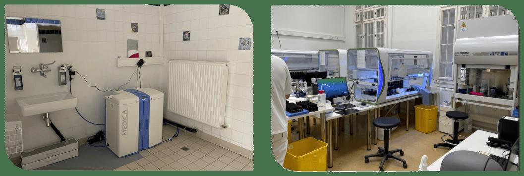 MEDICA-Reinstwassersystem im neuen Lifebrain COVID-19-Labor in Wien