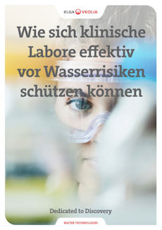 Titel des White Papers: Wie sich klinische Labore vor Wasserrisiken schützen können