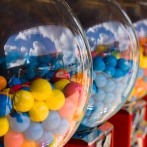 Chewing gum in dispenser