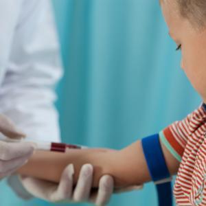Boy taking Blood