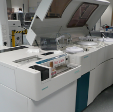 Siemens ADVIA Analysator im City General Hospital, Stoke-on-Trent, England