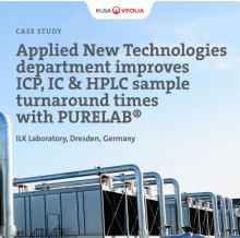 Applied New Technologies Department Improves ICP, IC & HPLC Sample Turnaround Times with PURELAB®